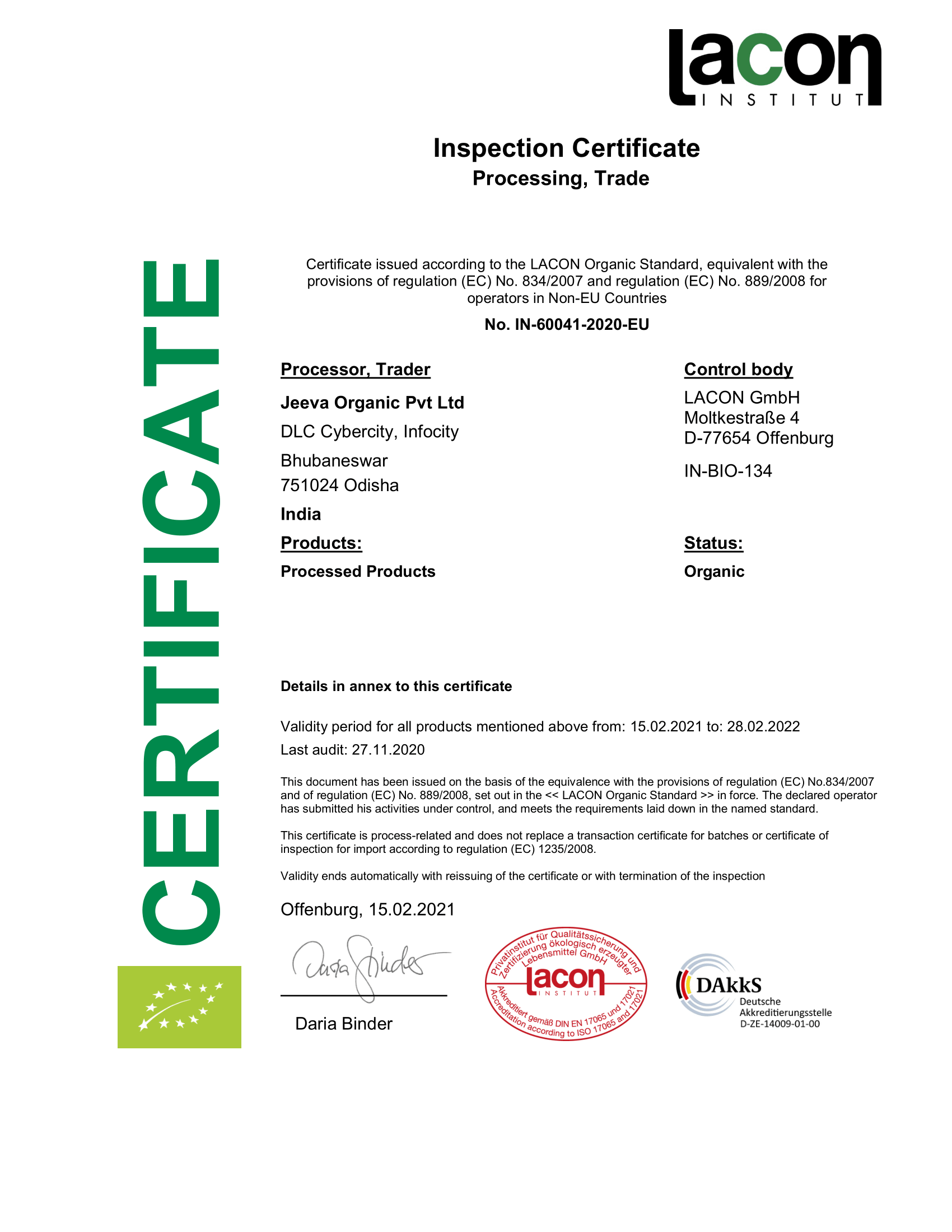 Inspection Certificate Processing, Trade